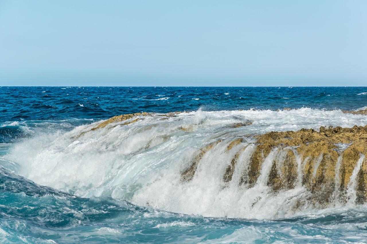 Crashing Waves  Gozo Gozo Malta Nature Nature_collection Ocean Scenics Scenicsunset Water Waterfront Wave Winter