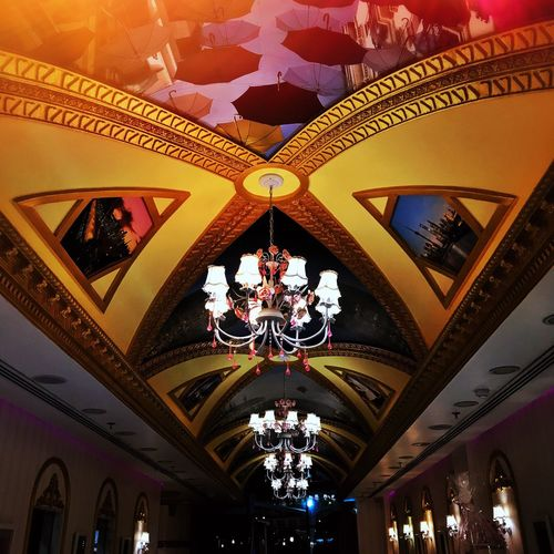 Ceiling Ceiling Lights Chandelier Light Restaurant EyeEmNewHere EyeEmNewHere Pinkcafe Cafe Art Is Everywhere