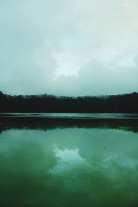The green lake. Nature is Amazing. Lake And Sky | MiddleEarth | Secret Lake || Color Palette