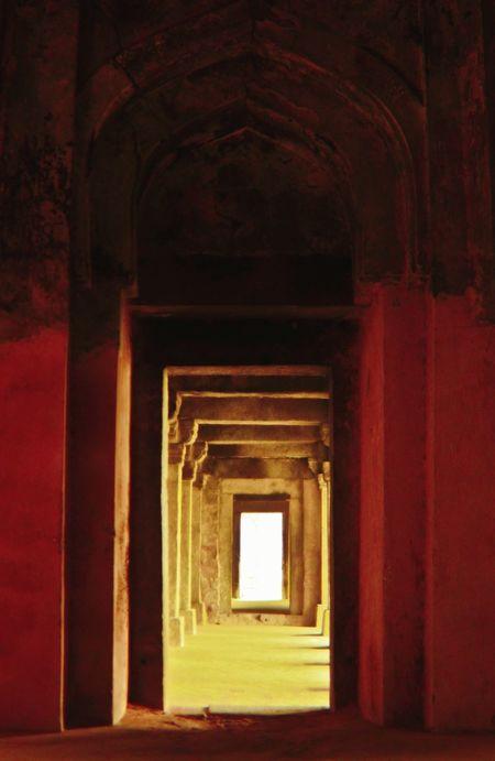 Ancient Ancient Civilization Arch Architecture Built Structure Corridor Doorway Hauz Khas Village Hauzkhasfort Hauzkhasvillage History Indoors  The Way Forward Travel Destinations
