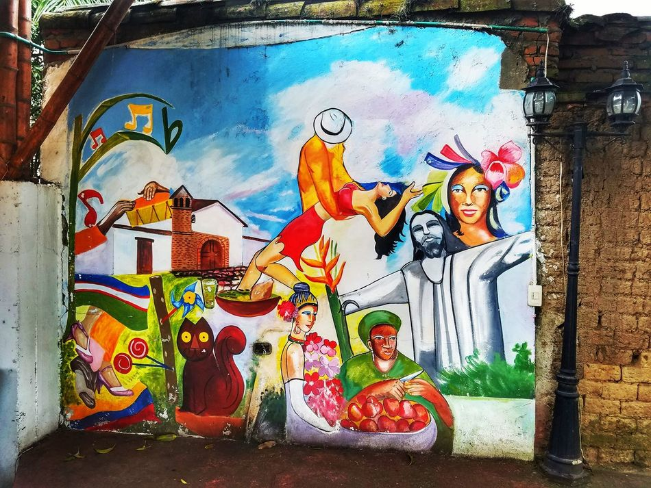 Mural Mural Art CALI COLOMBIA San Antonio Tipical Spanish Travel Destinations Vacations Art No People The City Light EyeEm Diversity