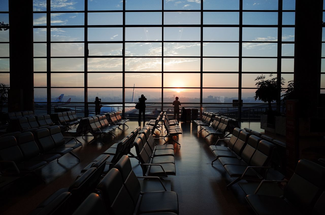 Beautiful stock photos of business,  Airport Terminal,  Chair,  Glass - Material,  Horizontal Image