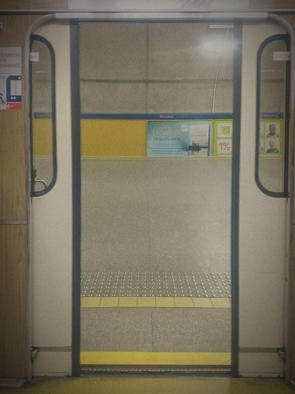 Day 50 of 365 365project 365 Day Challenge . Closing Door of Underground... Its just a mundane closing door of Tube . Transportation Subway Station Subway Subway Train Public Transportation Train - Vehicle Indoors  No People