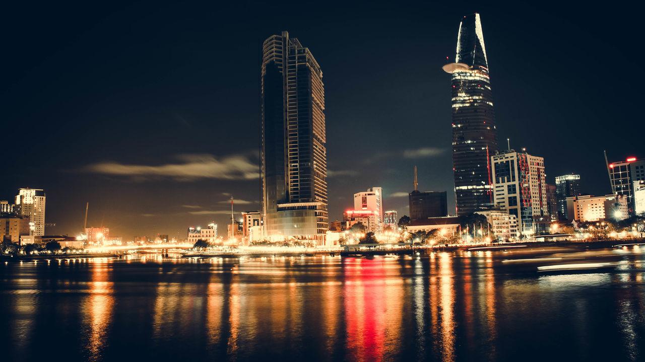 Bitexco City City Life Ho Chi Minh City Night Sai Gon City Sky Water