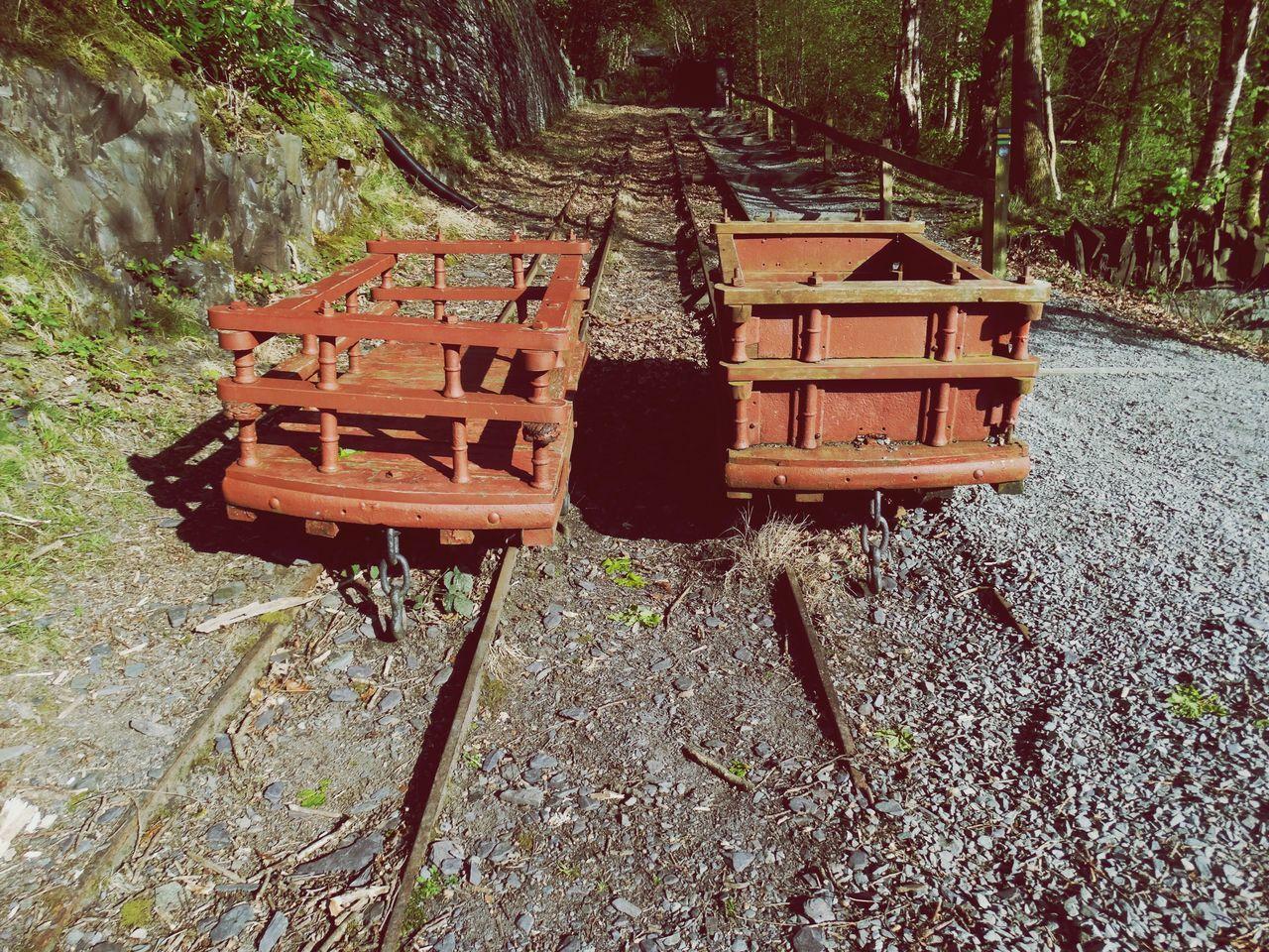 Mining carts on tracks. Day Mining Mining Heritage Mine Cart Mine Truck Outdoors Old Historic Nature Track Tracks Railway Rail Track Cart Truck Trucks Up Hill History Mining Industry Work
