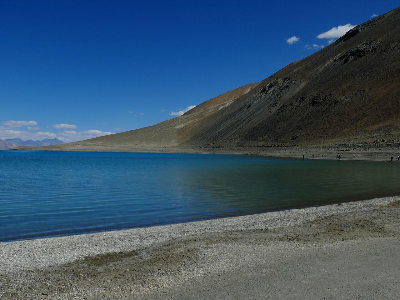 Beach Beauty In Nature Blue Day Jammu And Kashmir Lake Landscape Leh Ladakh Mountain Nature No People Outdoors Pangong Lake Pangong Tso Scenics Sky Water