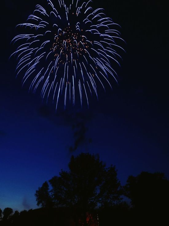 Early independence day fireworks . Fireworks Fireworksphotography Firework Display Celebration Nightphotography Nightphotos Treesilhouette Lightburst Fireburst Independence Day
