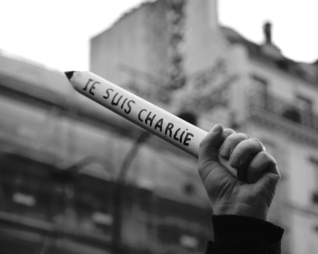 Jesuischarlie Noussommescharlie 11janvier2015 Marcherépublicaine Depth Of Field
