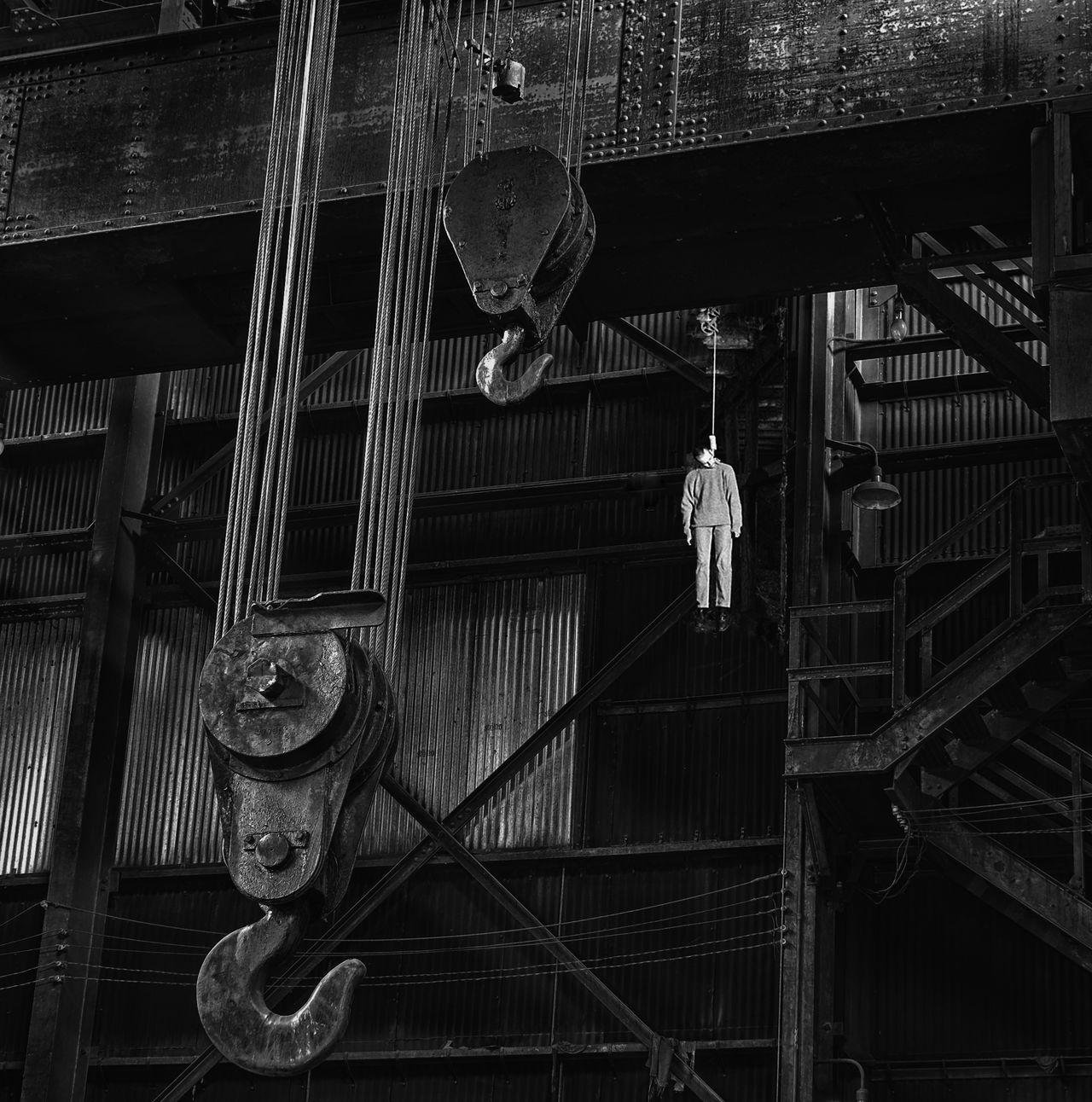 Hanging Hangman Suicide Noose Hook Industrial Landscapes Adandoned