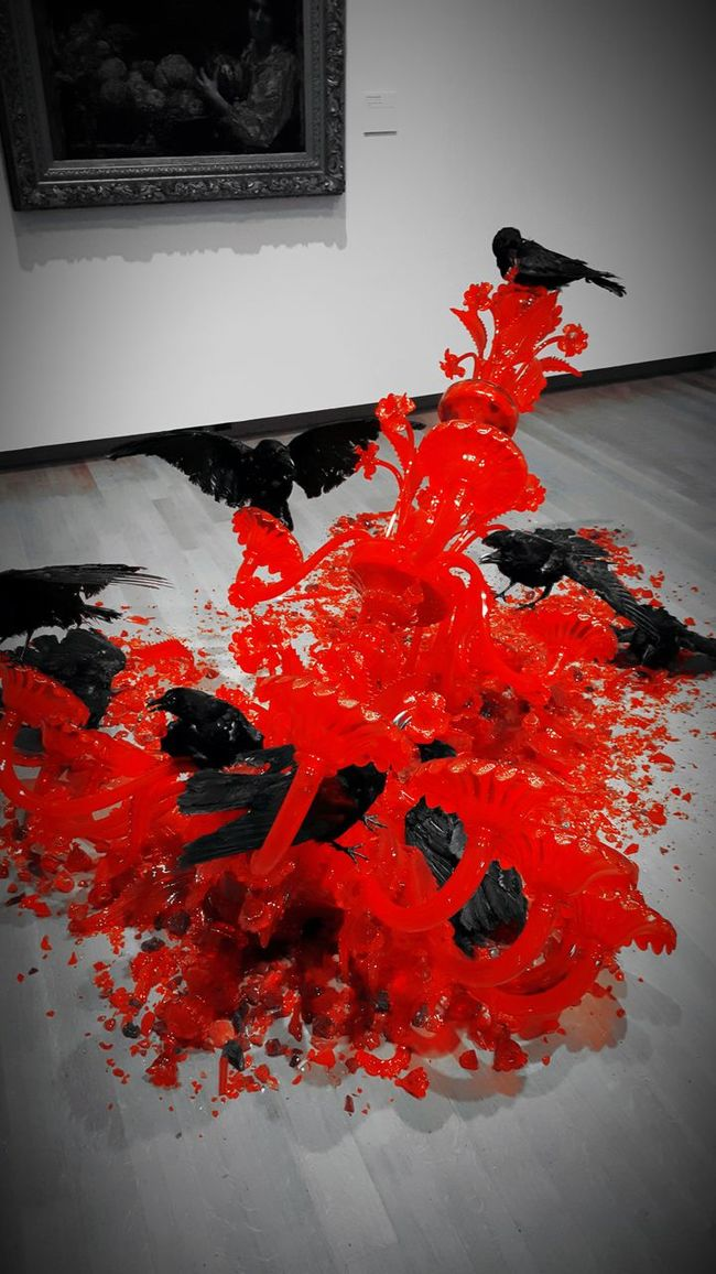 Dordrecht Museum Scool Trip Red Black And White Creapy 💀👻