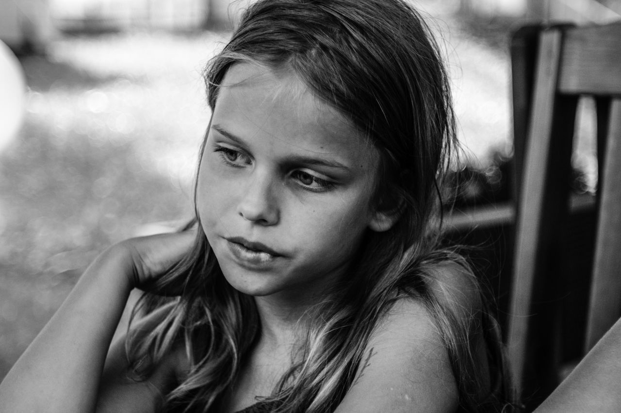Blsckandwhite Childhood Close-up Day One Person Outdoors People Young Woman The Portraitist - 2017 EyeEm Awards