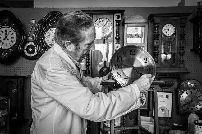 Art Artisian ArtWork Blackandwhite Clock EyeEm Best Shots EyeEm Gallery Handmade Reportage Shoe Watchmaker Work