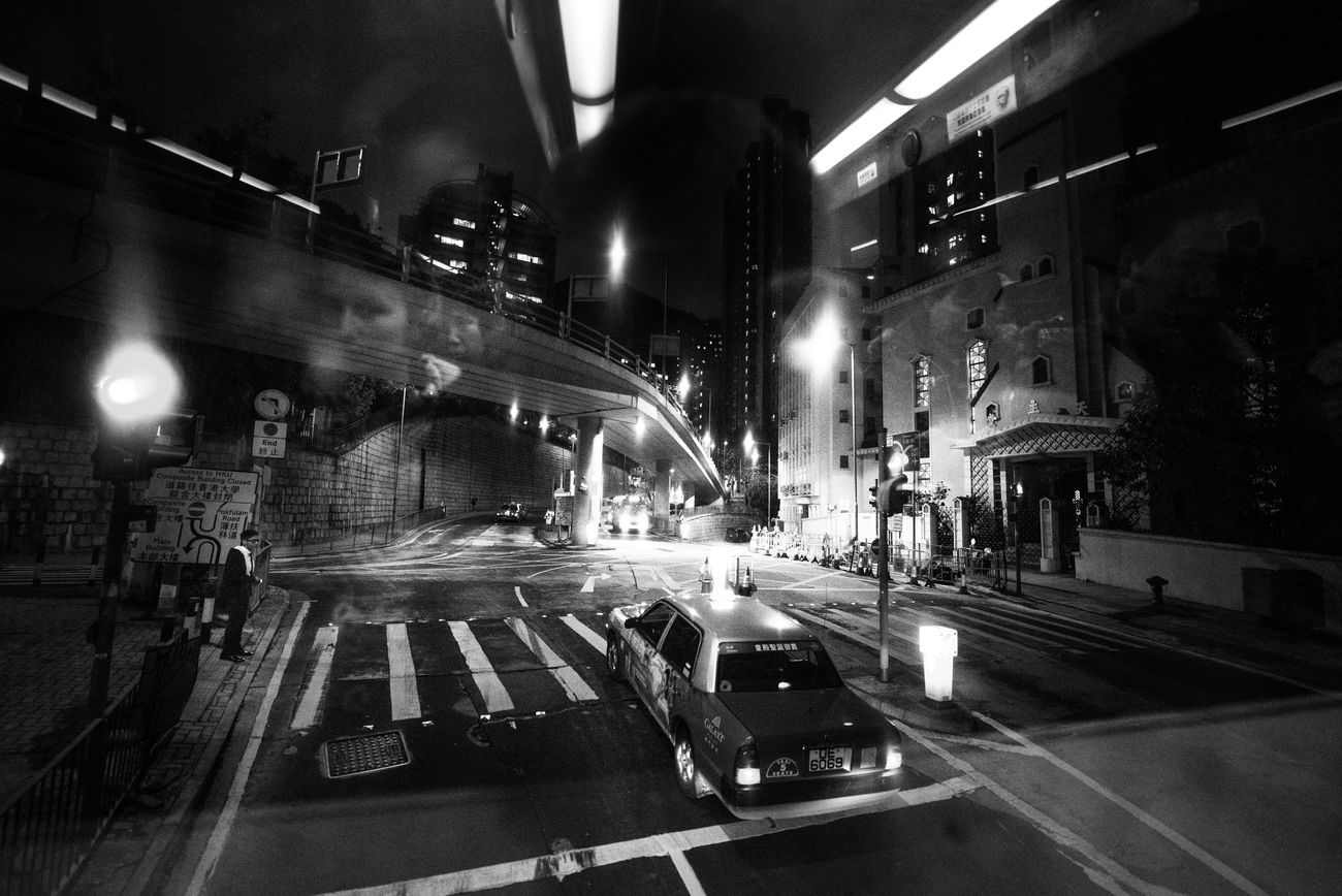 Adventure Architecture Blackandwhite Bw China City City Life City Street Hong Kong HongKong Illuminated Lights Motion Night Nightlife People Relaxing Street Taxi Town Travel Travel Destinations