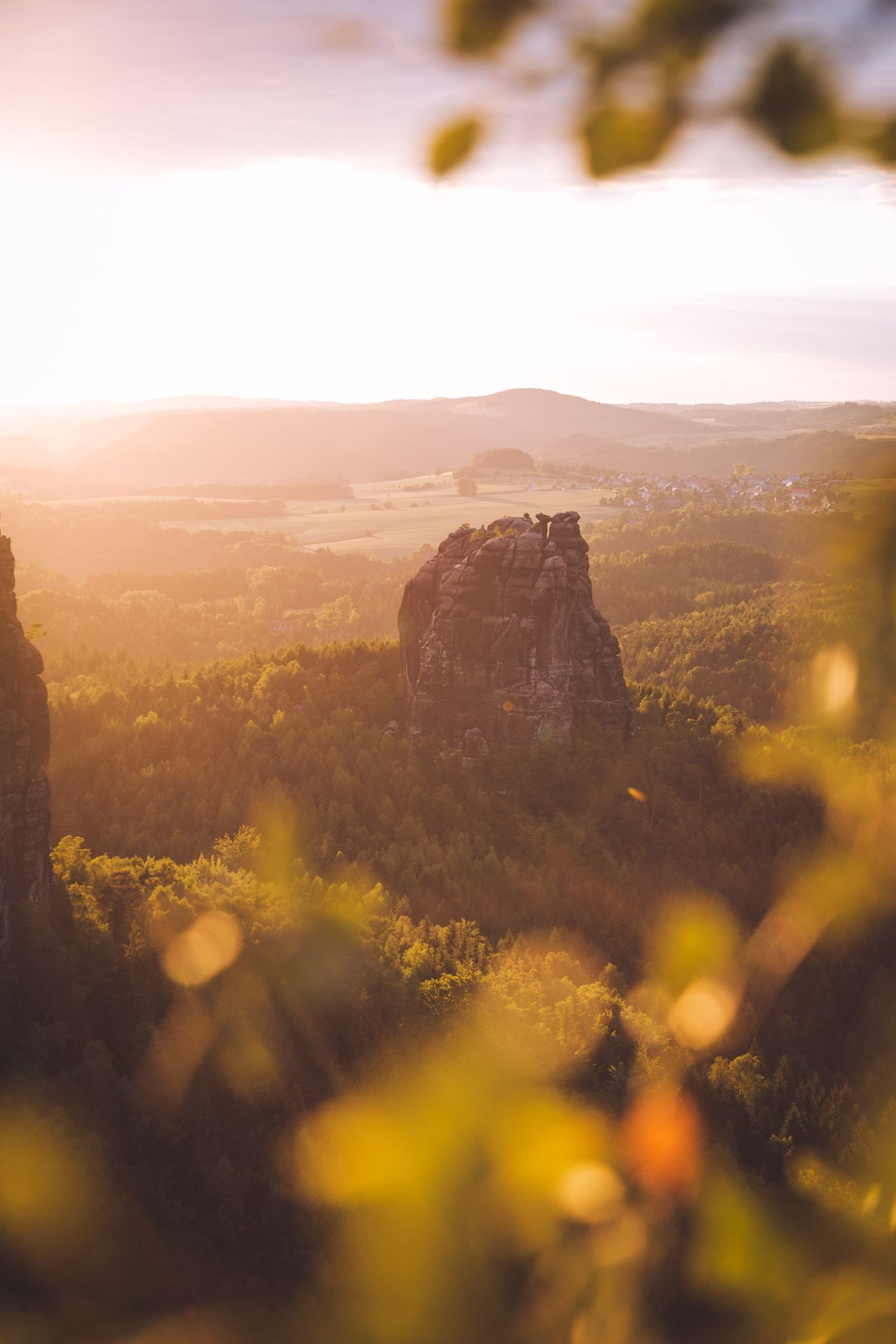 Framed by nature. Nature Beauty In Nature Landscape Tranquility Scenics No People Mountain Tranquil Scene Sky Outdoors Tree Day Saxon Switzerland