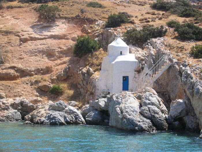 Church On Naxos Island Chapel Naxos Chapel Architecture Beauty In Nature Building Exterior Built Structure Day Greece Greece Chapel Greece Islands Little Church Greece Nature No People Outdoors Rock - Object Sea Water Waterfront