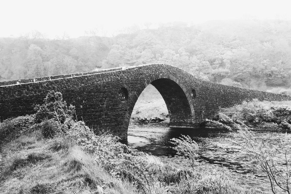 Bridge over the Atlantic The Great Outdoors - 2015 EyeEm Awards Clachan Scotland Seil Bridge Shades Of Grey Monochrome Photography