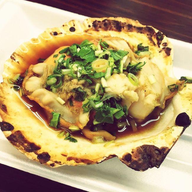 Seafoods Kuromon Ichiba Market Osaka,Japan Freshness