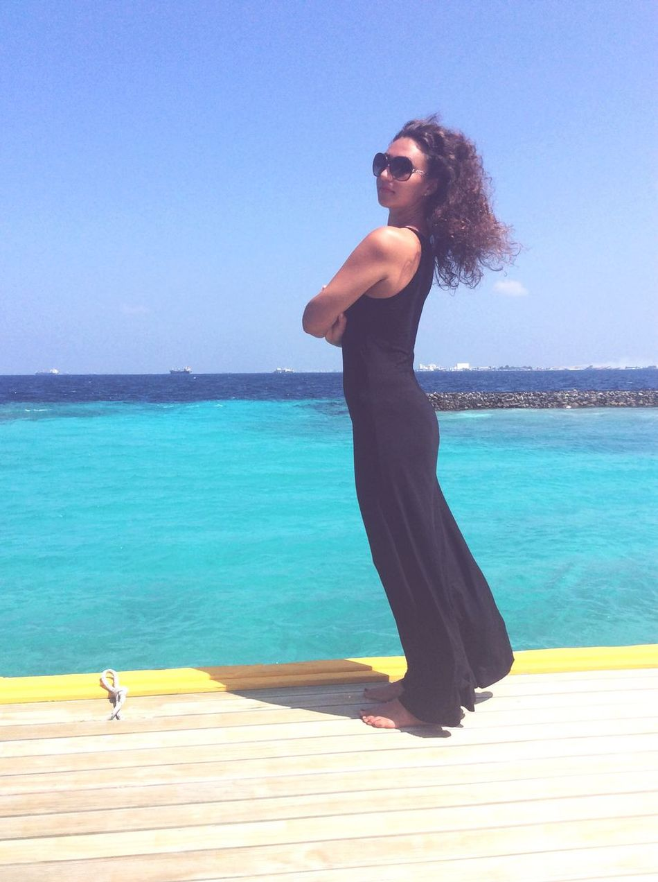 Can not live without sea) Curly Hair Happiness Beauty In Nature Relaxation Leisure Activity Vacations Beach Young Adult