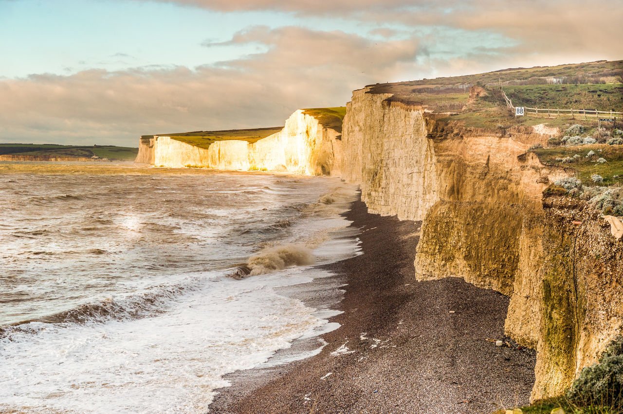 Birling Gap Cliff Cliffs Geology Light And Shadow Nature Physical Geography Rock Rock Formation Sussex Winter