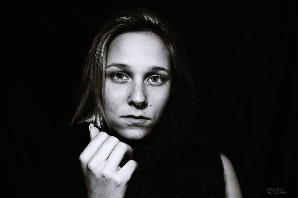 Black Background Blackandwhite Close-up Emotions Captured Eyes Freckle Human Face Model People Portrait Thoseeyes Young Women