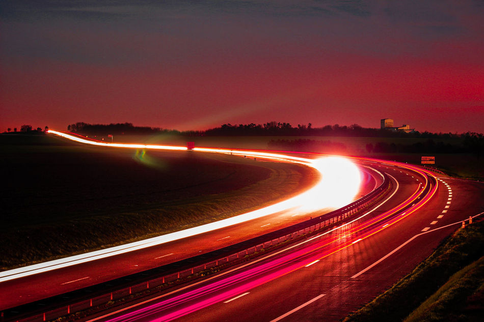 #light #Night #Pink  #red #redrock #Road #traffic Light Trail Outdoors