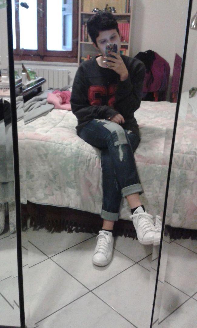 Two Days Ago Bad Selfie Adidas Stan Smith Mirror