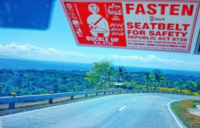 The road leads us to the Endlessness of one's journey. Buckle up! Be safe! Roadsafety Philippines Eyeem Philippines Learn & Shoot: Leading Lines