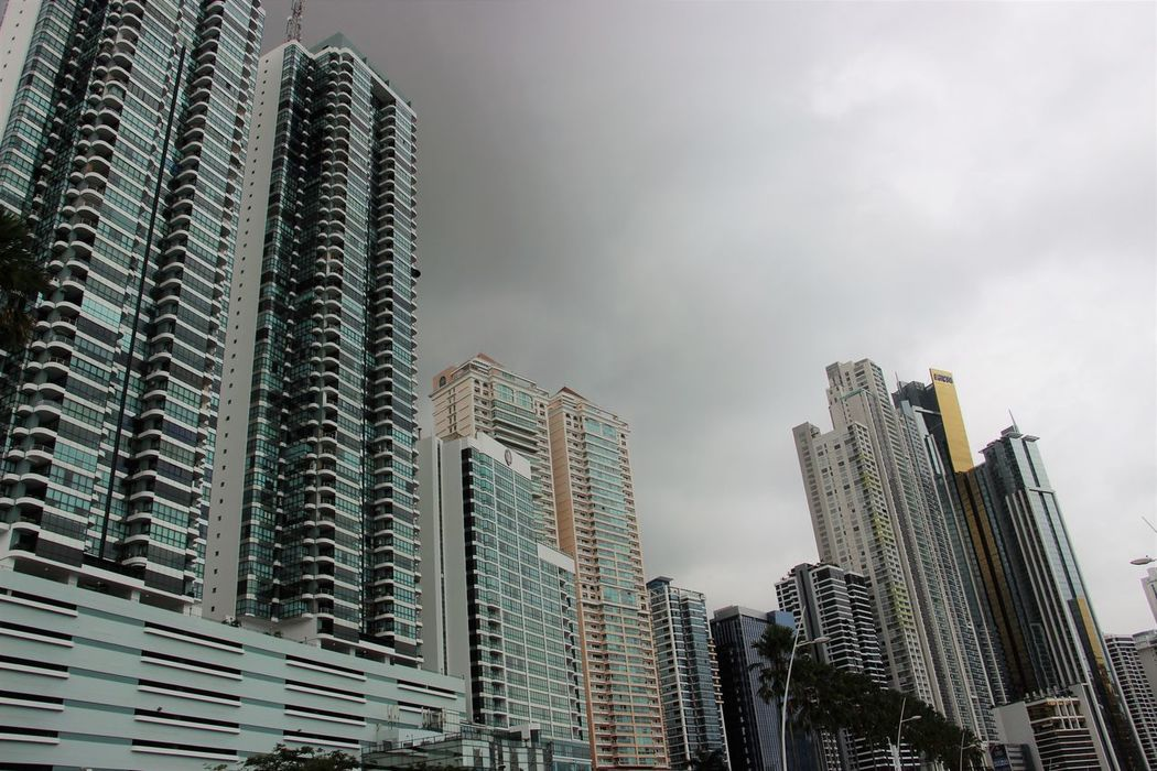 Skyscraper Urban Skyline Cityscape Sky Architecture City Business Finance And Industry Low Angle View Downtown District Growth Outdoors Modern No People Building Exterior Night Modern Architecture City Life Panamá Panama City Panama Cityscape City