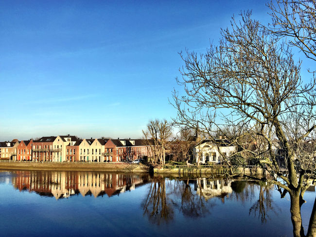 Water Reflection Water Reflections Nature Sky Netherlands Clouds And Sky Sky And Clouds Blue Landscape