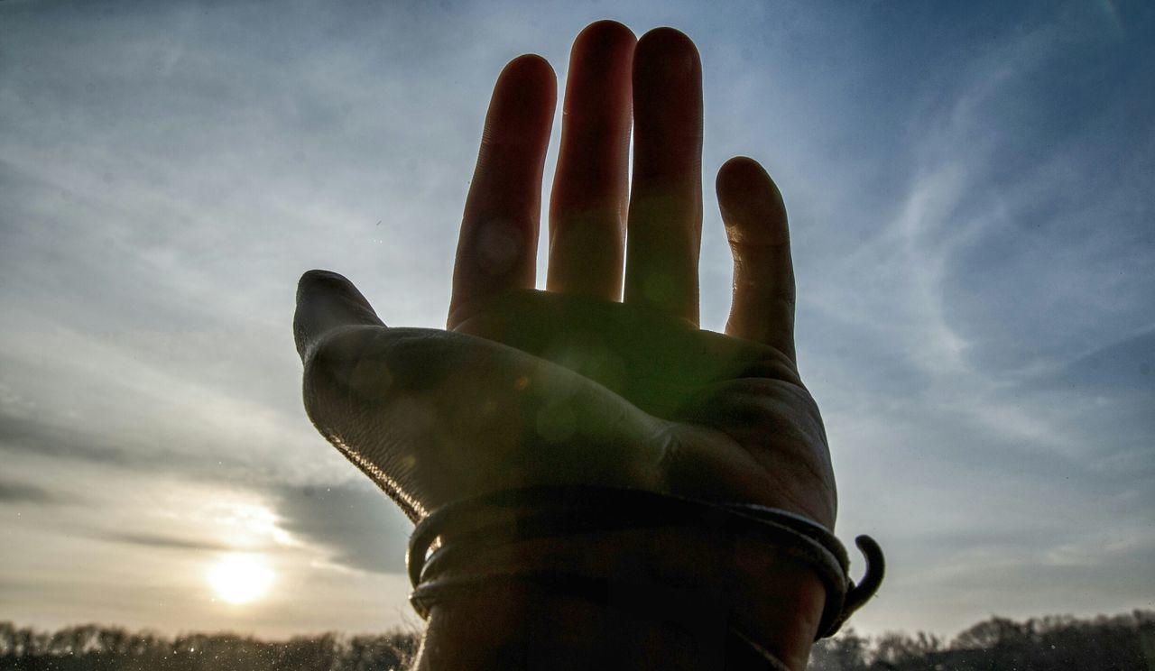Photography My Hand  Sunshine Sky Abstract Sunny Day Experimental Make Magic Happen