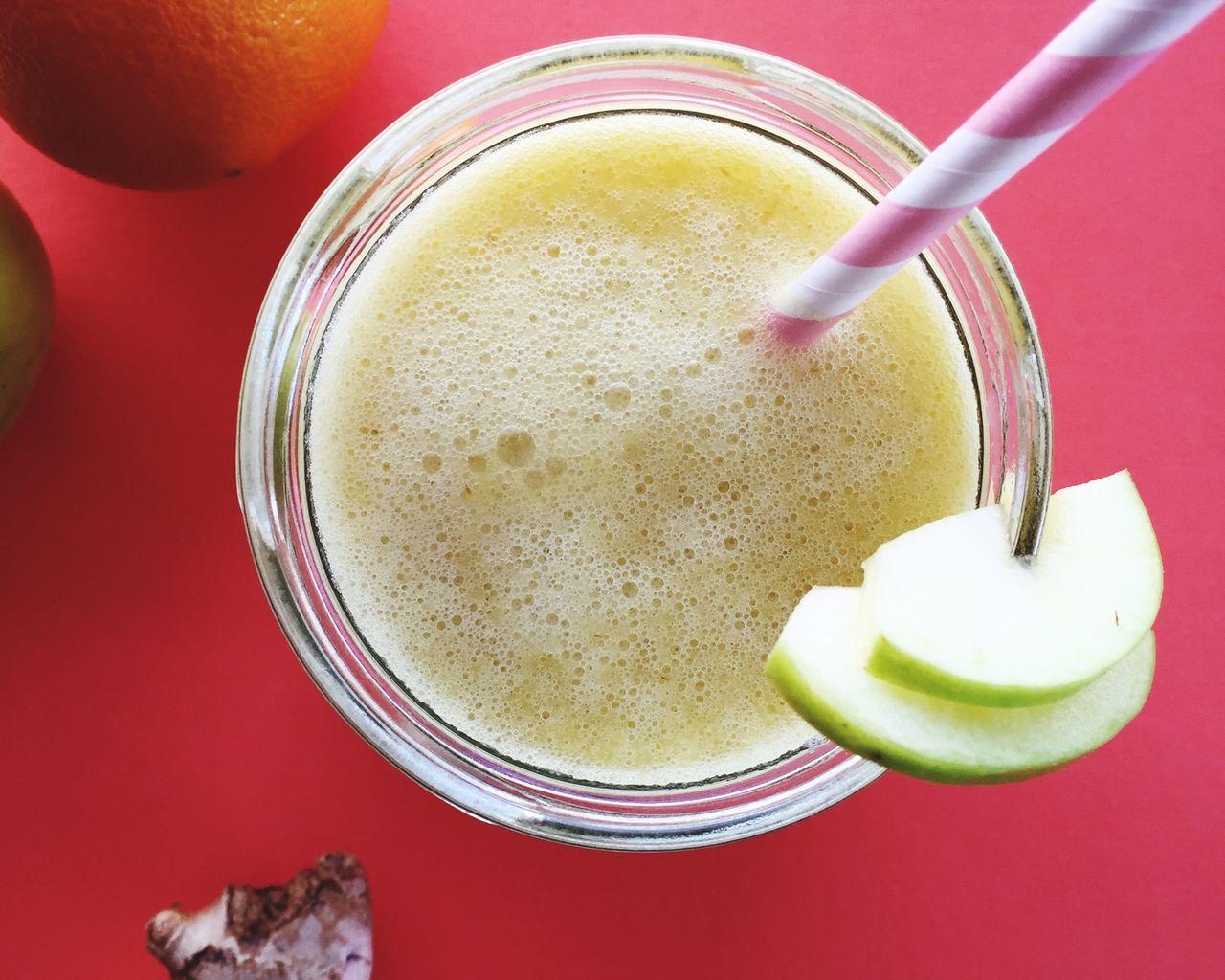 Juice Smoothie Apple Ginger Orange Jar Straw Drink Energy Boost  Juice Cleanse My Favorite Breakfast Moment