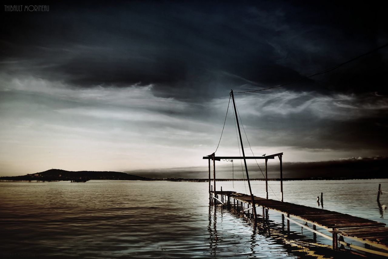 sky, cloud - sky, nature, water, no people, tranquility, sea, tranquil scene, beauty in nature, outdoors, scenics, sunset, day, storm cloud