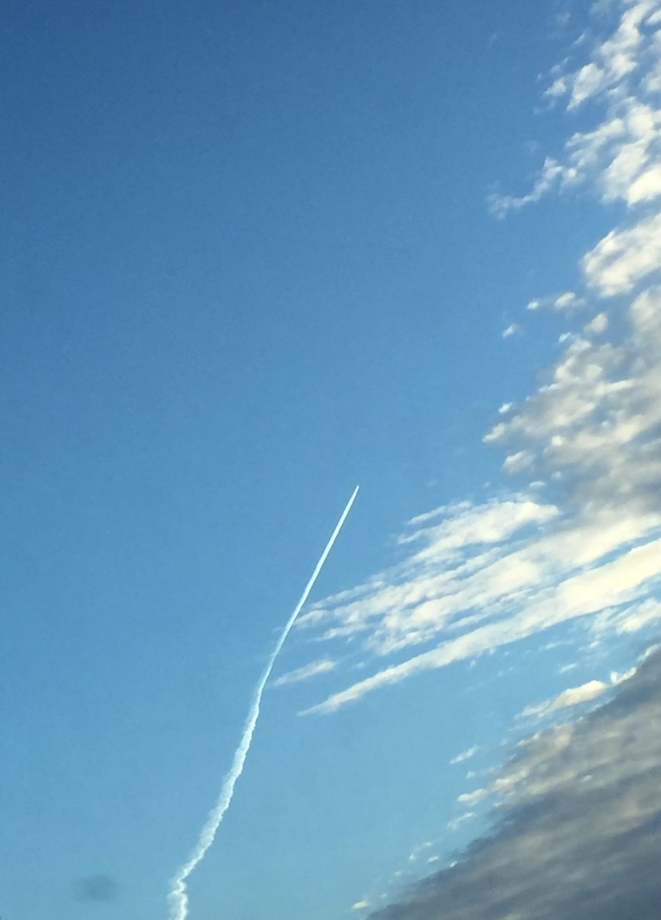 Vapor Trail Blue Contrail White Low Angle View Sky No People Airplane Day Nature Scenics Outdoors Air Vehicle