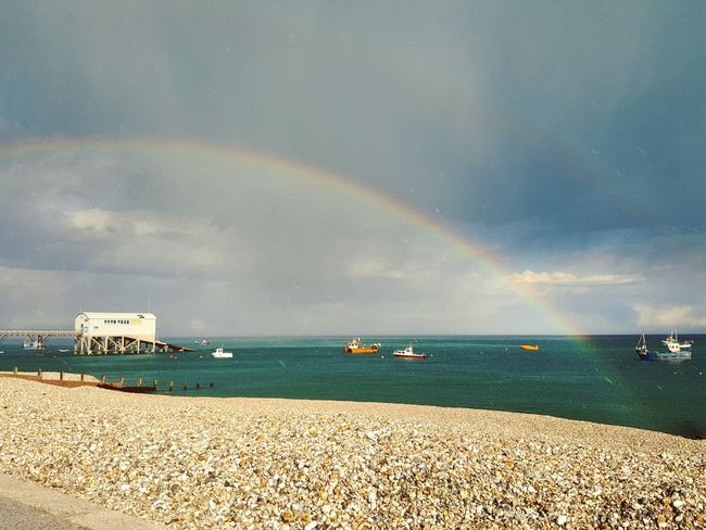 Nature's Diversities Rainbow Over The Sea Beauty In Nature Love The Colors