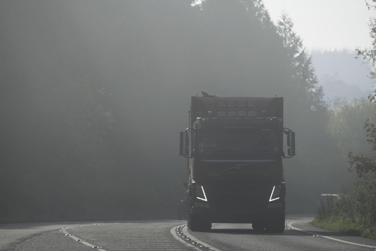 Drivng Fog Goods Industrial Industry Logistics Lorry Masstransit Road Truck
