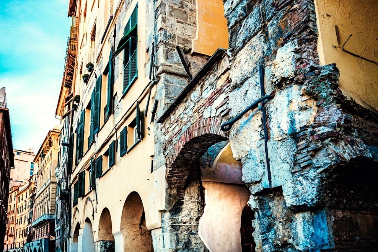 Sottoripa Genova Porto Antico Panorama Citta City Cityscapes