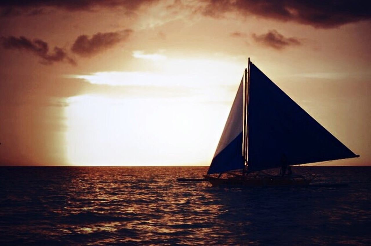 Sea Sunset Sky Sailing Water Nautical Vessel Horizon Over Water Sailboat Cloud - Sky Outdoors Sailing Ship Yacht Day Yachting Silhouette Silhouettes Sunset_collection Sunset Silhouettes EyeEmNewHere