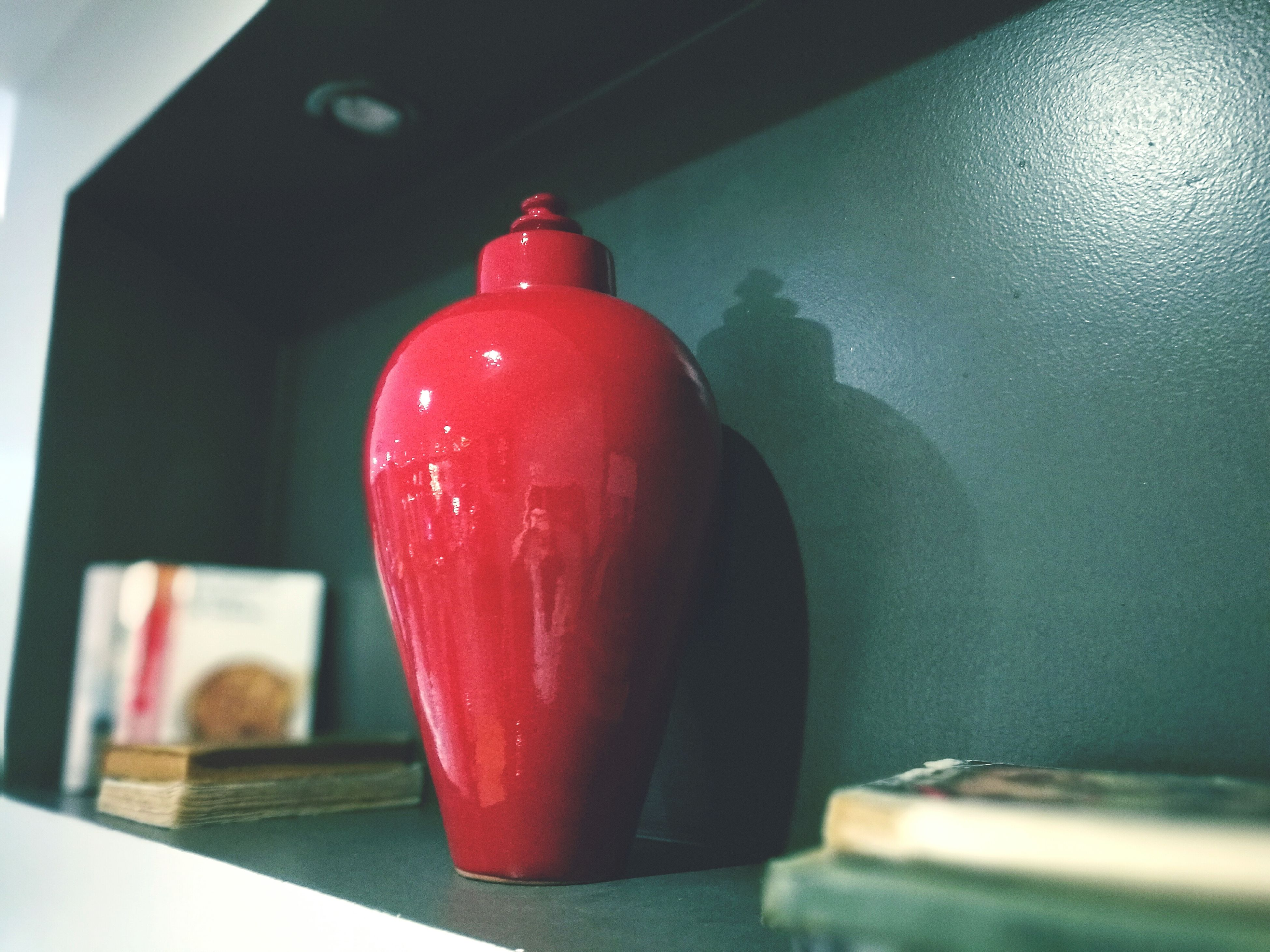 red, indoors, close-up, no people, day