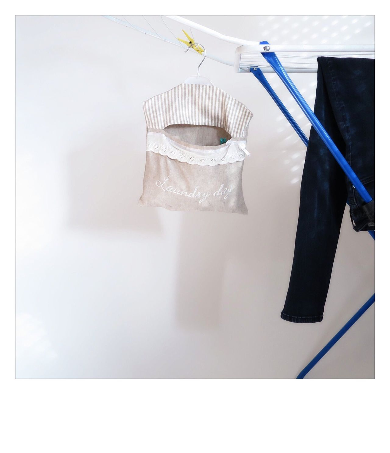 Hanging Indoors  No People Day Lines Wash Clean Fashion Still Life Naturell Glace Jute Directly Above Shabby Chic Vintage Font Text Loop Jeans Laundry Line Laundry Day Laundry Simple Photography Simplicity White Background
