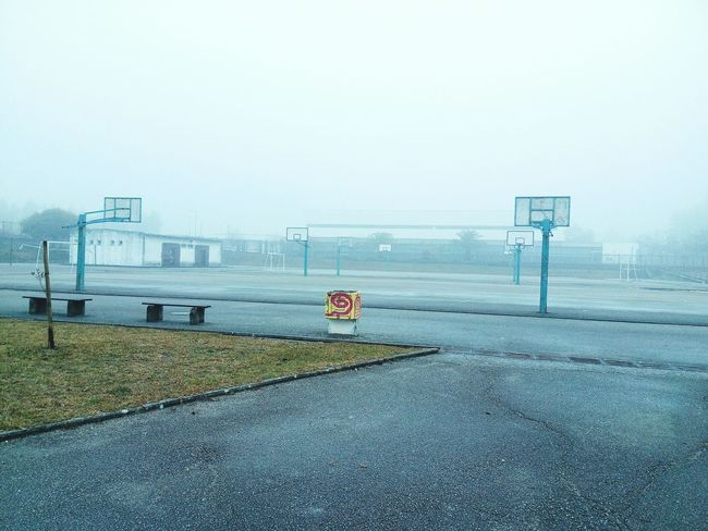 School foggy and cold Relaxing