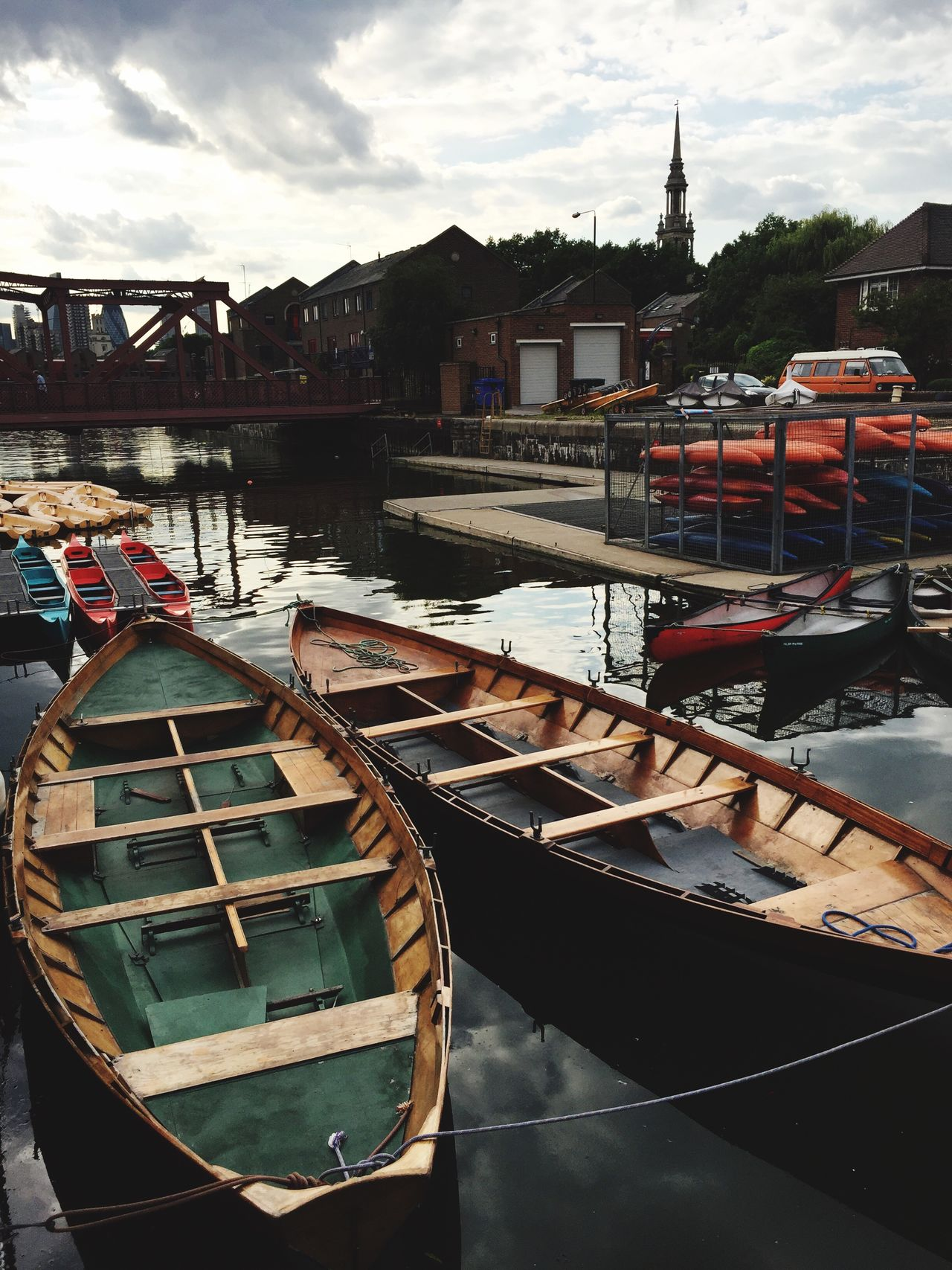 EyeEm LOST IN London Nautical Vessel Water Moored Built Structure Architecture Boat Building Exterior Transportation Mode Of Transport Sky Cloud - Sky Canal Day Outdoors Harbor Real People Sea Nature Gondola - Traditional Boat