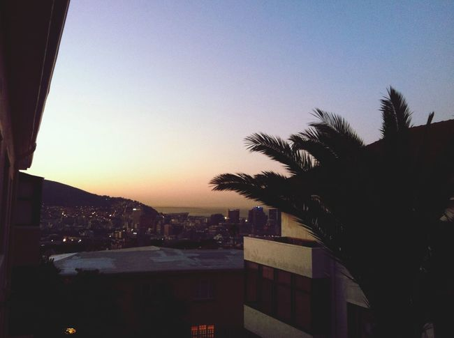 Sunset City Cape Town South Africa Dusk Urban