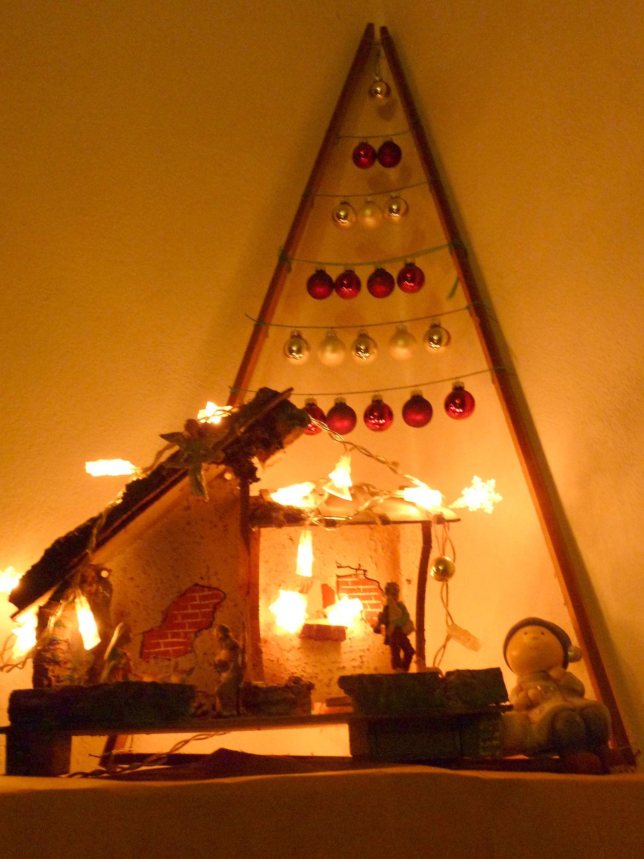 Christmas Christmas Decorations Christmas Lights Christmas Tree Lowlight Nativity Nativity Scene Religion