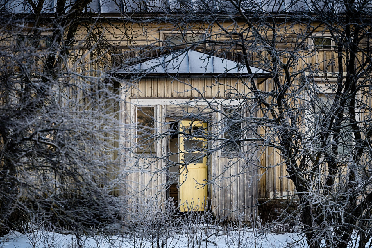 Abandoned Places Architecture Bare Tree Beauty In Nature Building Exterior Built Structure Day Door Doors Nature No People Outdoors Sky Tree