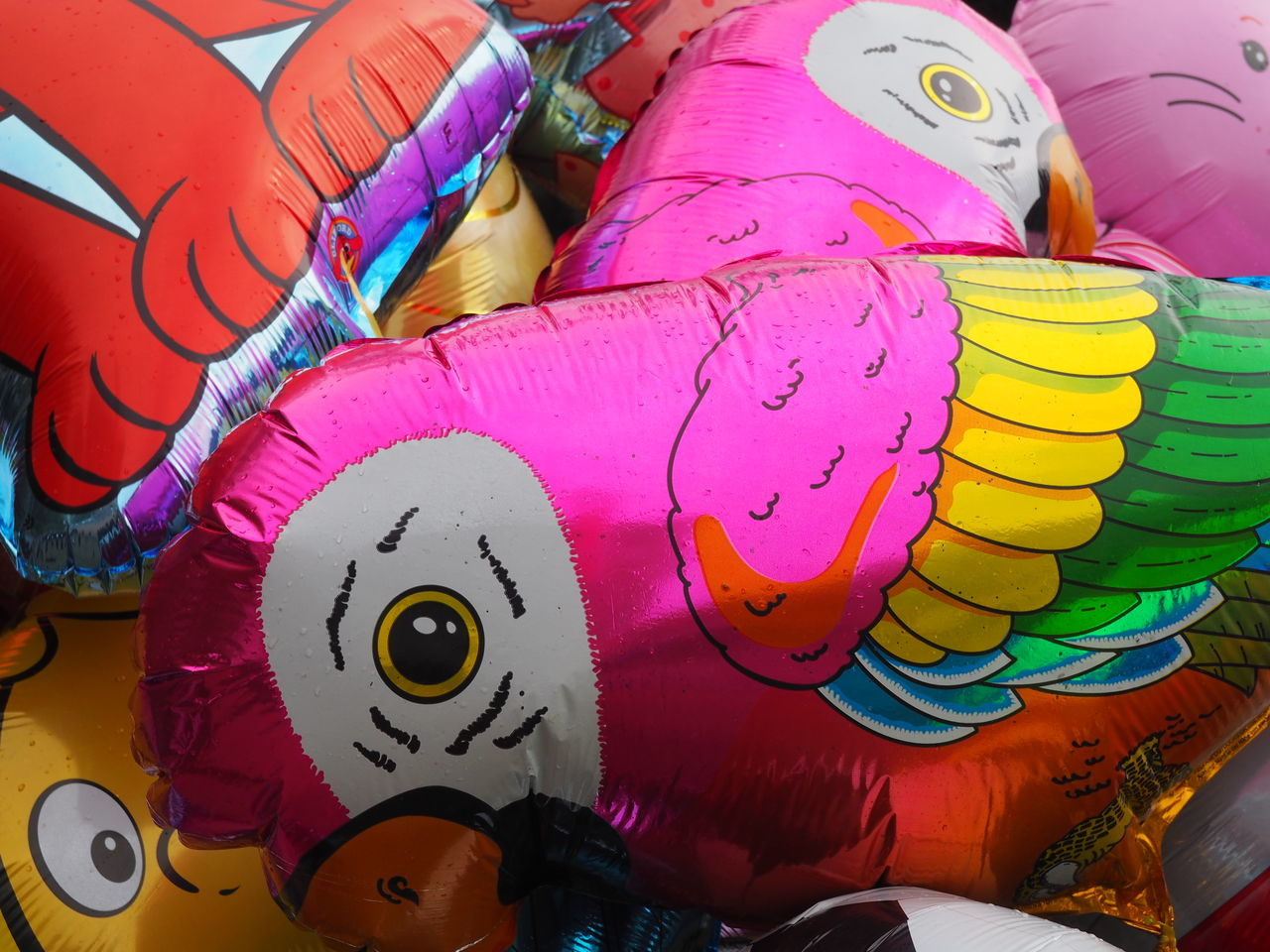 Baloons Childhood Close-up Day Human Body Part Metalic Multi Colored Multicolor Outdoors People Perrot