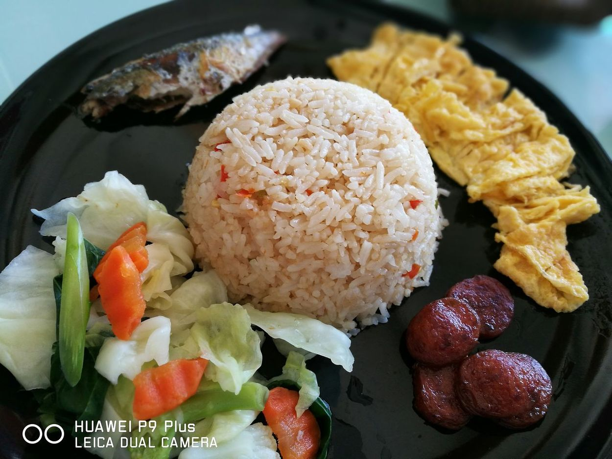 The shrimp Paste Fried Rice with Scomber Food Of Thailand Delicious ♡