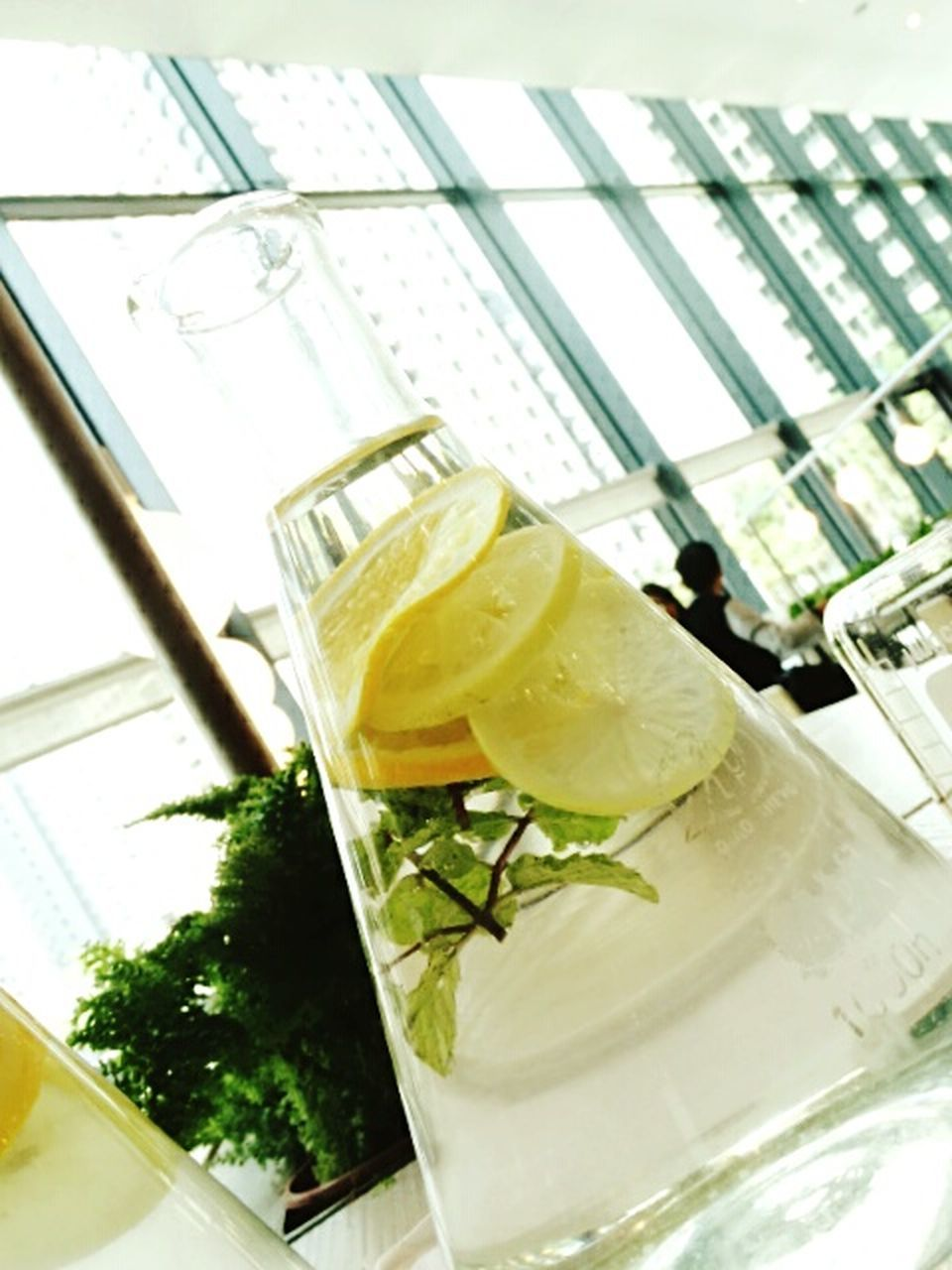 food and drink, drink, refreshment, indoors, drinking glass, freshness, healthy eating, no people, lime, mint leaf - culinary, close-up, food, mojito, day