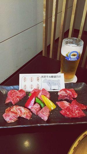 米沢牛さんお久しぶりデス!!🐮🍷 Beefeater Yonezawa Beef Yamagata,Japan