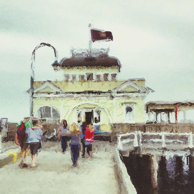 St Kilda Pier, Melbourne NEM Painterly My City AMPt_community