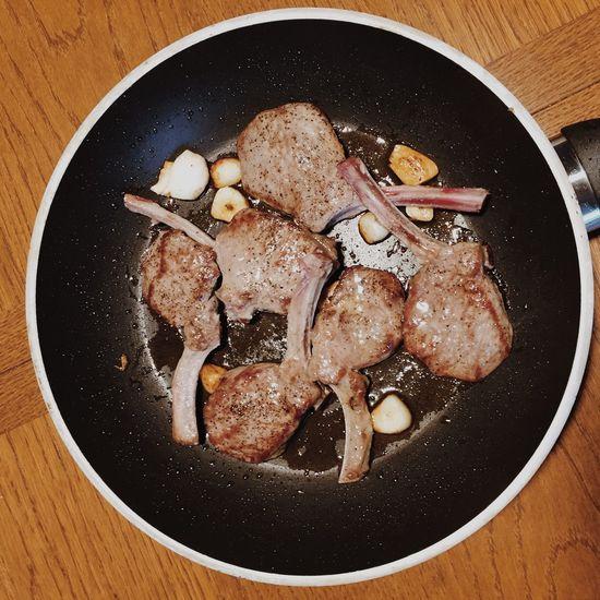 Food Lamb Pfanne Kochen